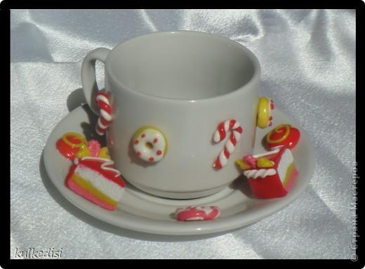 Подарок на день рождения хорошей подружке.Чайная пара с заварничком. фото 3