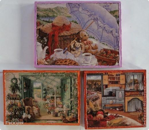 Здравствуйте жители Страны Мастеров! Продолжаю серию минни-панно по картинам Жаннет Крумент, с  темами деревенской, дачной жизни.Материал ДСП, структурная паста, распечатка. фото 1