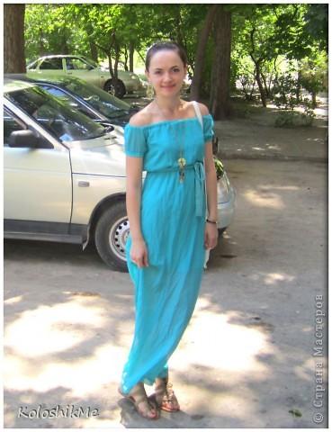 Это мое первое длиное платье. Долго гадала - шить, или не шить, потому что всегда носила платья и юбки чуть ниже или выше колен. И всё-таки решила поэкспериментировать.))) фото 4