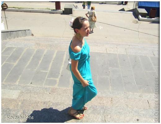 Это мое первое длиное платье. Долго гадала - шить, или не шить, потому что всегда носила платья и юбки чуть ниже или выше колен. И всё-таки решила поэкспериментировать.))) фото 3