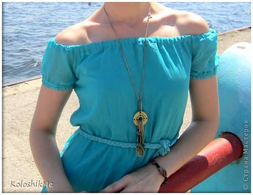 Это мое первое длиное платье. Долго гадала - шить, или не шить, потому что всегда носила платья и юбки чуть ниже или выше колен. И всё-таки решила поэкспериментировать.))) фото 2
