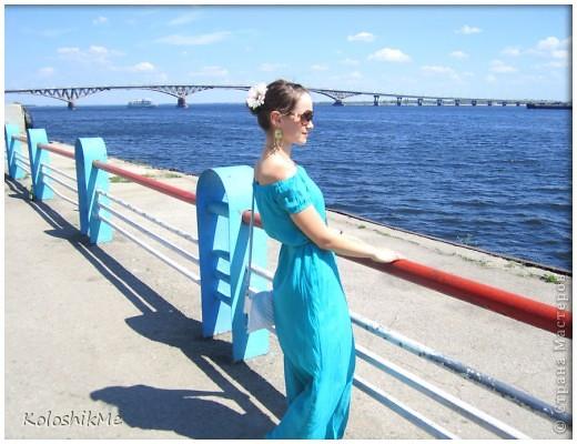 Это мое первое длиное платье. Долго гадала - шить, или не шить, потому что всегда носила платья и юбки чуть ниже или выше колен. И всё-таки решила поэкспериментировать.))) фото 1