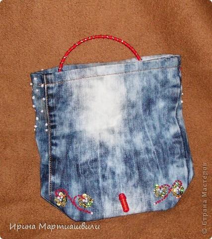 Переделка джинсов в клатч №1 фото 3