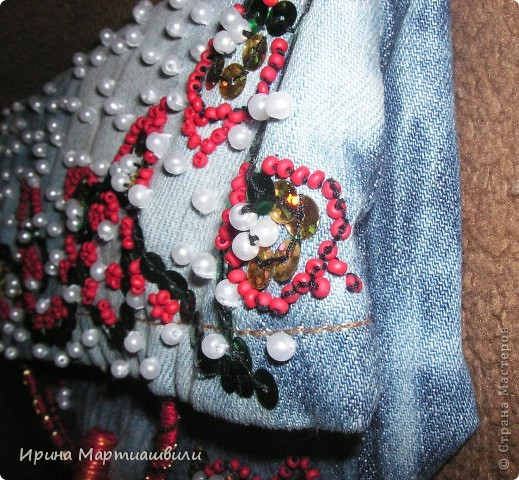 Переделка джинсов в клатч №1 фото 4