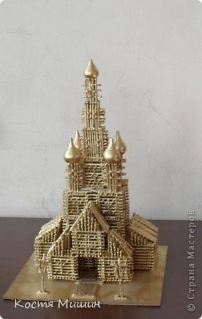 Так выгледит уменьшенная копия(из спичек) собора в Тобольске. фото 1