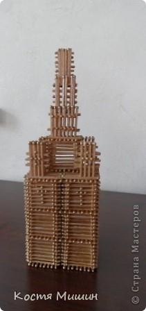 Так выгледит уменьшенная копия(из спичек) собора в Тобольске. фото 2