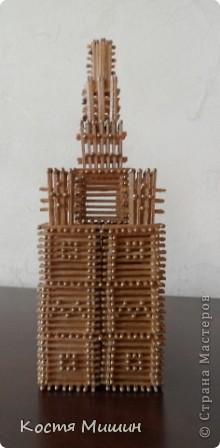 Так выгледит уменьшенная копия(из спичек) собора в Тобольске. фото 3