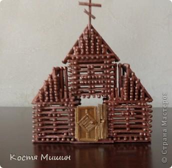 Так выгледит уменьшенная копия(из спичек) собора в Тобольске. фото 6