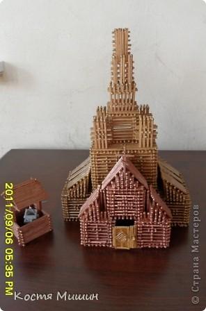 Так выгледит уменьшенная копия(из спичек) собора в Тобольске. фото 8
