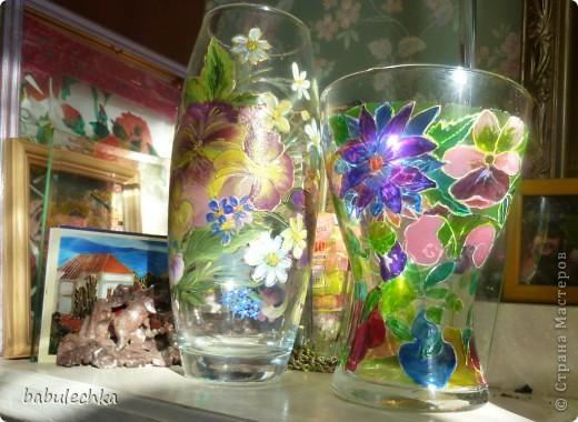 Втакую вазу , в результате  переделки,обратилась ваза с маками. фото 4