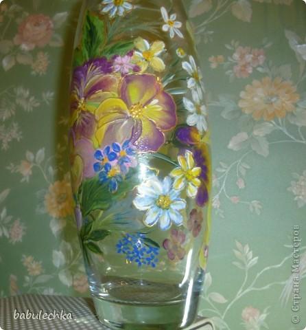 Втакую вазу , в результате  переделки,обратилась ваза с маками. фото 1