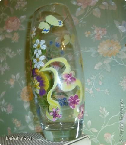 Втакую вазу , в результате  переделки,обратилась ваза с маками. фото 5