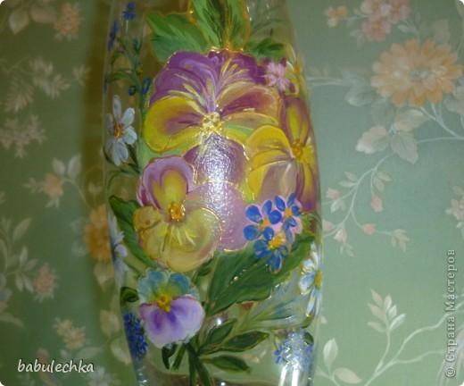 Втакую вазу , в результате  переделки,обратилась ваза с маками. фото 3