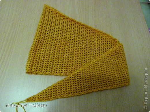 """Бактус """"Листопад"""". Основное полотно - филейная сетка крючком Размер готового бактуса без каймы 130 см на 25 см.  фото 9"""