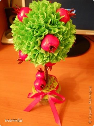 За 2 вечера сделала вот такое гранатовое дерево, гранаты покупала готовые)) фото 2