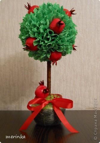 За 2 вечера сделала вот такое гранатовое дерево, гранаты покупала готовые)) фото 1