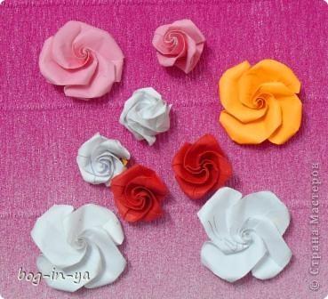 Давно заглядывалась на розы оригами(как-то даже была неудачная попытка сделать). А тут такая красота http://stranamasterov.ru/node/235466 розовое дерево! И вдохновило меня это чудо-дерево  ....   фото 1