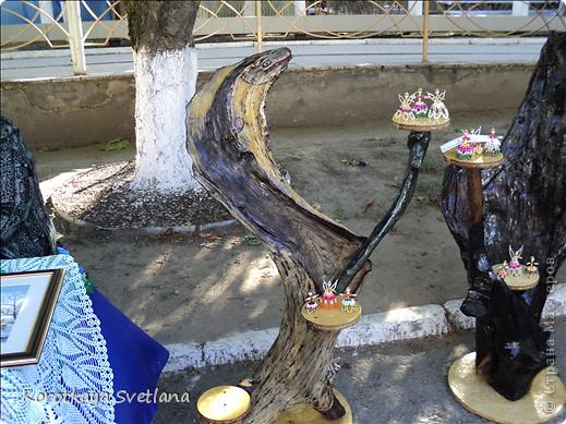 Доброго времени суток, мастера и мастерицы страны мастеров!В нашей станице Тбилисской Краснодарского края большое событие- мы отмечали сразу два праздника День Рождение станицы и день урожая. Было много праздничных мероприятий и среди них выставка народных умельцев. фото 14