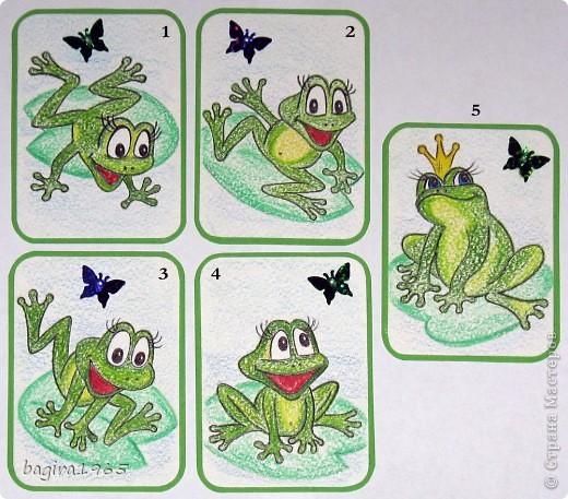 Вот такое царство... Всё - как полагается: одна царевна и её подданные - в основном веселая и озорная малышня.  На бумаге для акварели нарисовано акварельными карандашами, и пайетки в форме бабочек.  Серия не для обмена. Карточек всего 9, 3 из них мы забираем с сестрой и племянницей, имеется 3 кредитора: МаЮрКа, taivis, Minenko.Galina; а так же трое приглашенных: Россиянка, ШМыГа и Vitulichka. фото 2