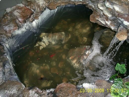 Водопад с разноцветными рыбками в большом магазине бытовой техники.  фото 9