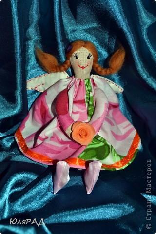 Такая малышка у меня получилась))) Сделала для подружки доченьки))) В крылышки добавила немного ванилина............теперь её хочется съесть))) фото 2