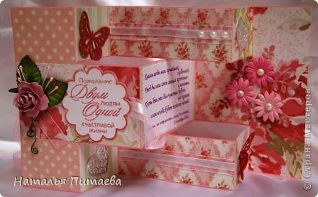 Здравствуйте жители СМ. Предлагаю вашему вниманию ещё одну Свадебную открытку, форму подсмотрела у Аскины http://stranamasterov.ru/node/159804?c=favorite.  фото 2