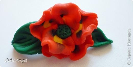 мои первые цветы из пластики фото 3