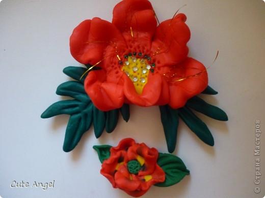 мои первые цветы из пластики фото 1
