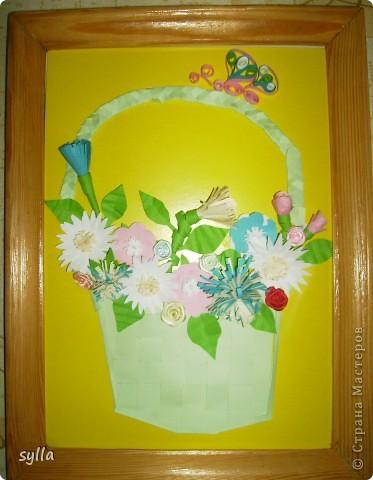 Корзинка с цветочками)))