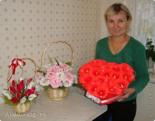 Сладкое сердце из конфет))) фото 3