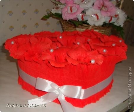 Сладкое сердце из конфет))) фото 2