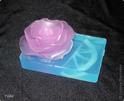 Впервые делала мыльную розу.  фото 1