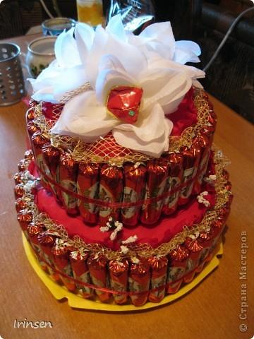 Конфетный тортик фото 1