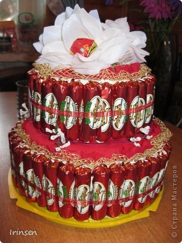 Конфетный тортик фото 2