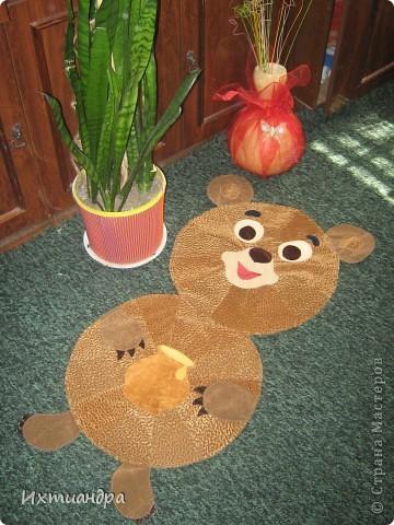 Косолапый мишка. Коврик или панно? )) фото 1