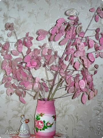 """Букет """"Нежность""""              Это остатки лунарии,высушенные и покрашенные аэрозольной краской из баллончика. фото 1"""