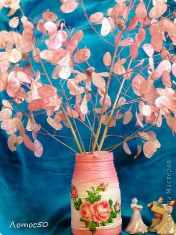 """Букет """"Нежность""""              Это остатки лунарии,высушенные и покрашенные аэрозольной краской из баллончика. фото 5"""