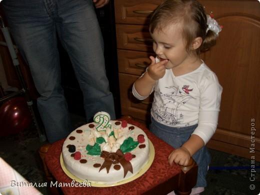 Всем доброго времени суток! Сегодня моей принцессе исполнилось ровно 2 годика! Вот какой тортик у меня получился! фото 7