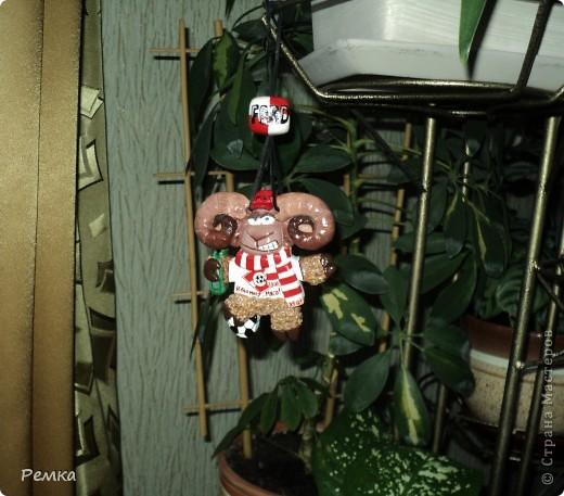 """Друг попросил барана...(по зодиаку он овен)... Ну, и я, зная, что он болеет за """"Спартак"""" решила сделать барана-фаната футбола )))))) Атрибутика соответствующая ))) фото 6"""