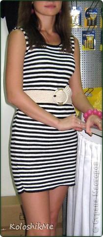 Как-то захотела себе платье-тельняшку, обошла не мало магазинов в поисках желаемого, но они (поиски) не обвенчались успехом... Моё желание обладать таким платьем было настолько велико, что я не могла сдаться просто так. фото 5
