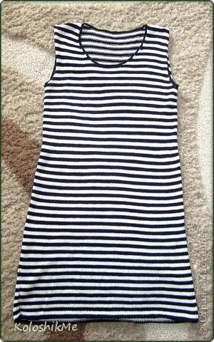 Как-то захотела себе платье-тельняшку, обошла не мало магазинов в поисках желаемого, но они (поиски) не обвенчались успехом... Моё желание обладать таким платьем было настолько велико, что я не могла сдаться просто так. фото 2