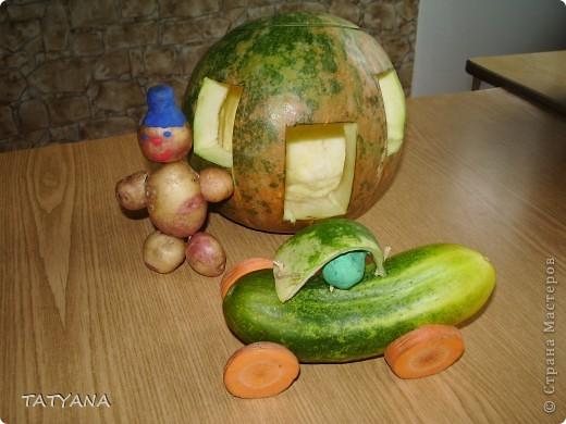 Дом и машина для картофельного человечка