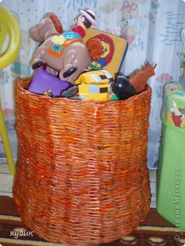 вот такой короб я сплела для Игнашиных игрушек фото 1