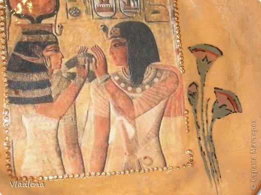 Добрый вечер всем жителям страны! Меня попросили сделать тарелочку в египетском стиле. А я в Египте не была, а стиль представляю только из учебников по древней истории. И уж тут..... что получилось..... фото 4