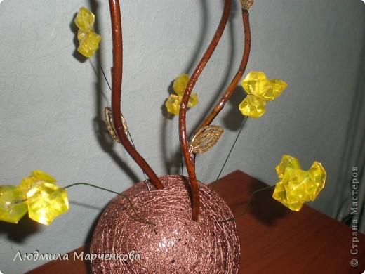 цветы - шарики из ниток фото 9