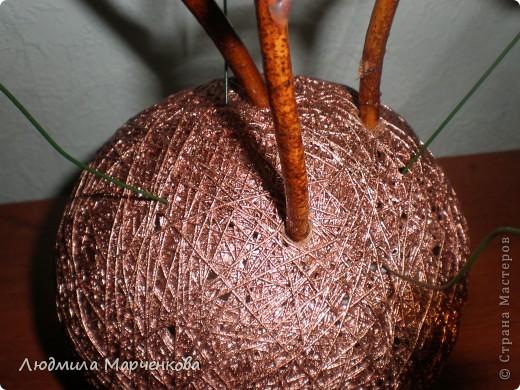 цветы - шарики из ниток фото 8