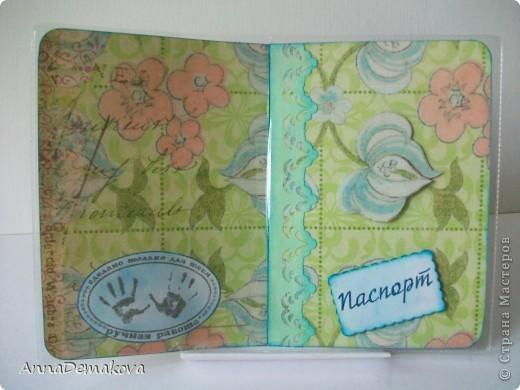 А ещё я сделала наборчик - обложка для паспорта и миник. В общем то ничего особенного. Такой легкий, зелененикий, летний наборчик. Его можно кому-нибудь подарить на день рождения. фото 3