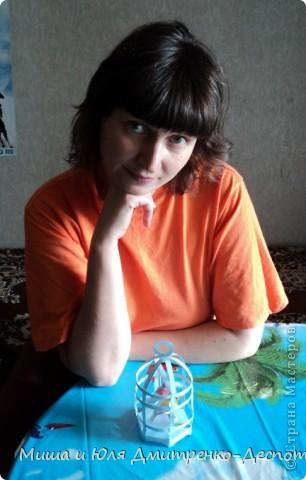 Я ОЧЕНЬ люблю птиц! Пол моей жизни прошло в их окружении, и сейчас родная стайка продолжает радовать мою маму на Украине. Зная эту мою слабость, Мишенька сделал мне вот такую клеточку с канареечками! Можете себе представить как я пищала от удовольствия!  Вот их личика поближе! фото 7