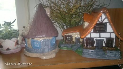 Глиняные домики моя страсть! Вот попробывала смастерить своими руками... фото 2