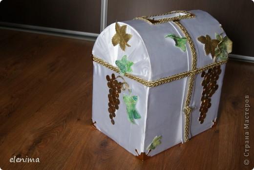 Сундук на свадьбу из коробки